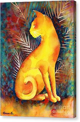 Popoki Hulali Canvas Print by Frances Ku