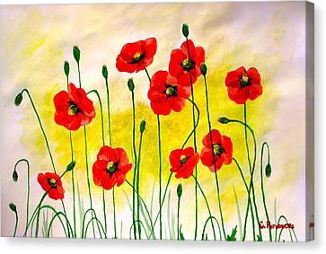 Poppies Canvas Print by Sonya Ragyovska