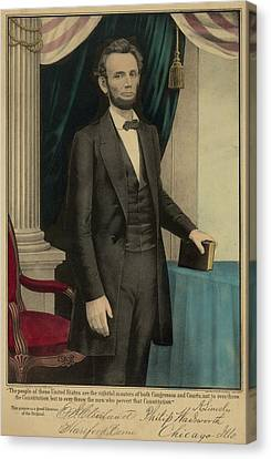 Popular Print Of President Abraham Canvas Print by Everett