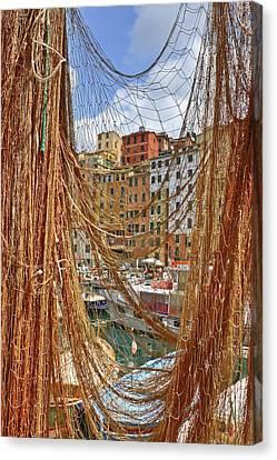 Port Of Camogli Canvas Print by Joana Kruse