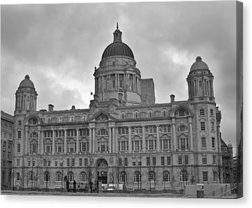 Port Of Liverpool Building Canvas Print by Georgia Fowler