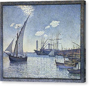 Porte De Cette Les Tartanes Canvas Print by Theo van Rysselberghe