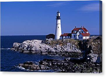 Portland Head Inshore Canvas Print by Skip Willits