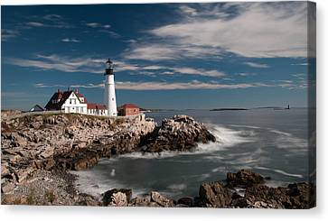 Portland Head Light 19482c Canvas Print by Guy Whiteley