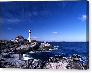 Portland Head Offshore Canvas Print by Skip Willits