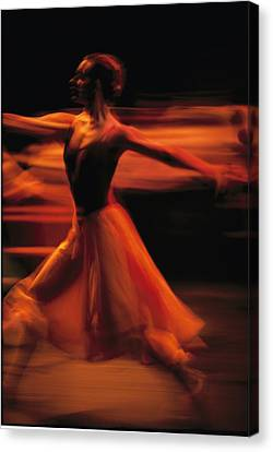 Portrait Of A Ballet Dancer Bathed Canvas Print by Michael Nichols
