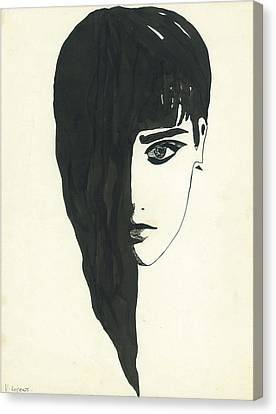 Portrait Of A Woman  Canvas Print by Valeria Jye