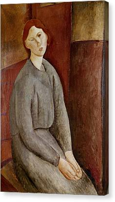 Portrait Of Annie Bjarne Canvas Print by Amedeo Modigliani