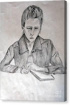 Portrait Of Haley Golz Canvas Print by Jana Barros