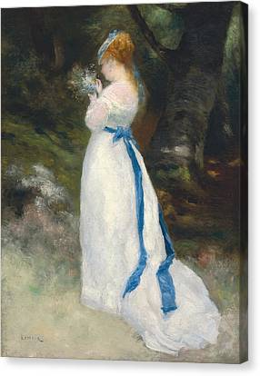 Portrait Of Lise   Canvas Print by Pierre Auguste Renoir