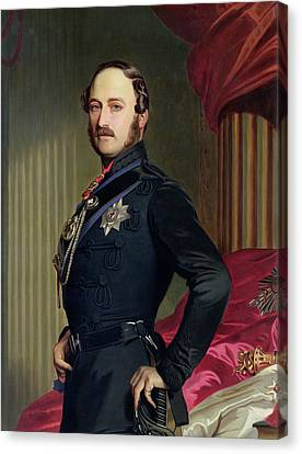 Portrait Of Prince Albert Canvas Print by Franz Xavier