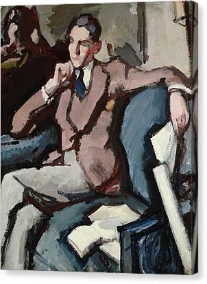 Portrait Of Willie Peploe Canvas Print by Samuel John Peploe