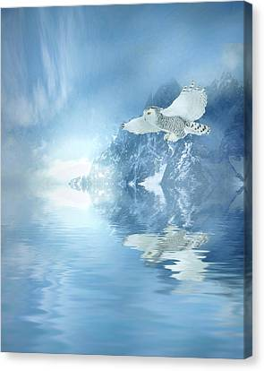 Portrait Of Winter Canvas Print by Sharon Lisa Clarke