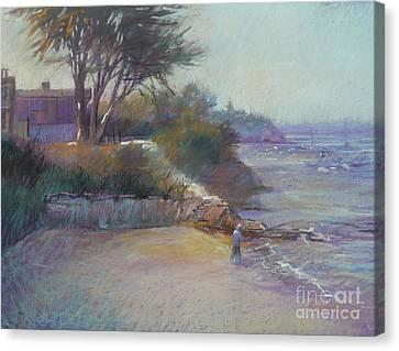 Portsea Evening Canvas Print by Pamela Pretty