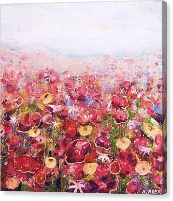 Posies Canvas Print by Andria Alex