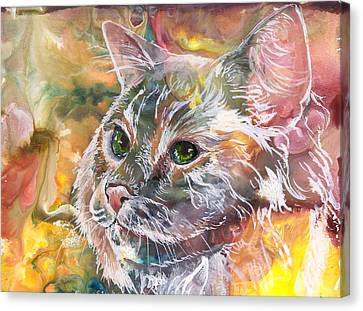 Posing Canvas Print by Sherry Shipley