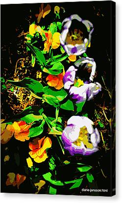 Poster Girls Canvas Print by Diane montana Jansson