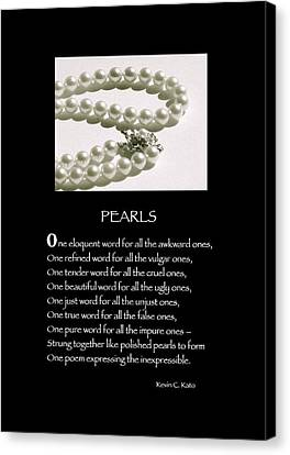 Poster Poem - Pearls Canvas Print by Poetic Expressions