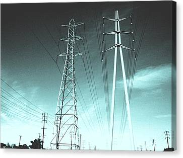 Power Lines Canvas Print by Jay Reed