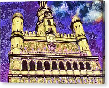 Poznan City Hall Canvas Print by Mo T