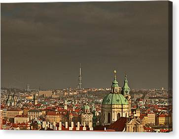 Prague - A Symphony In Stone Canvas Print by Christine Till