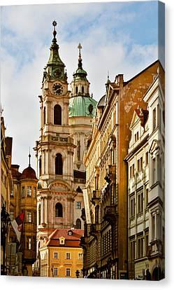 Prague - St. Nicholas Church Lesser Town Canvas Print by Christine Till