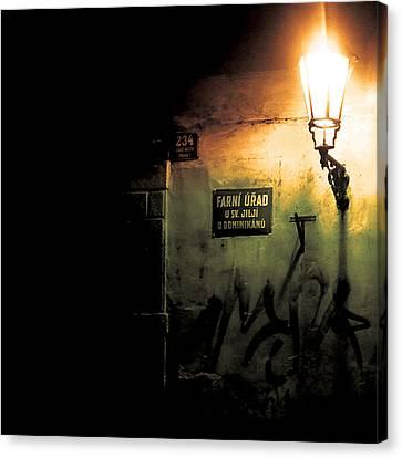 Prague Street Light Canvas Print by Chris Giles