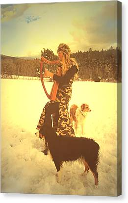 Praise Him With The Harp And All Ye Shepherd Dogs Canvas Print by Anastasia Savage Ealy