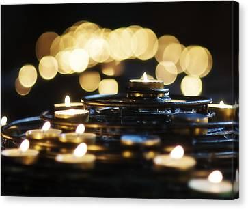Prayer Candles Canvas Print by Beth Riser