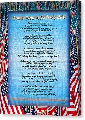 Prayer From A Soldiers Wife Canvas Print by Carolyn Marshall