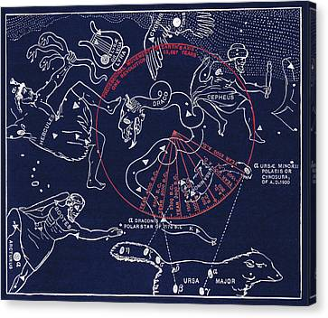 Precession Of The North Celestial Pole Canvas Print by Sheila Terry