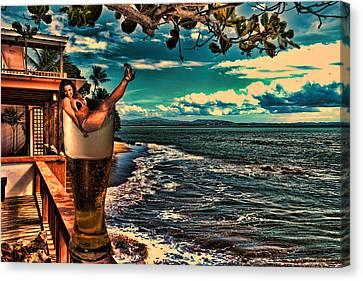 Premium Lager On The Veranda Canvas Print by Frank Feliciano
