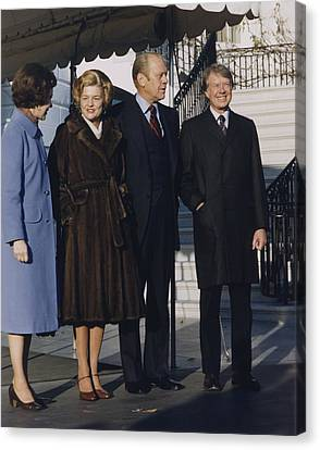 President And Betty Ford Canvas Print by Everett