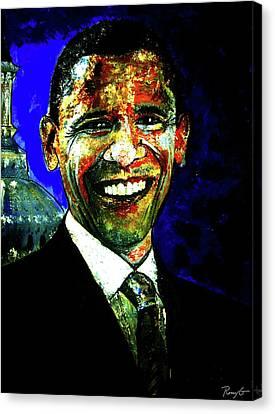 President Barack Obama Canvas Print by Rom Galicia