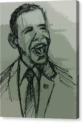 President Barack Obama Canvas Print by William Winkfield