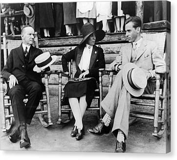 President Calvin Coolidge, First Lady Canvas Print by Everett