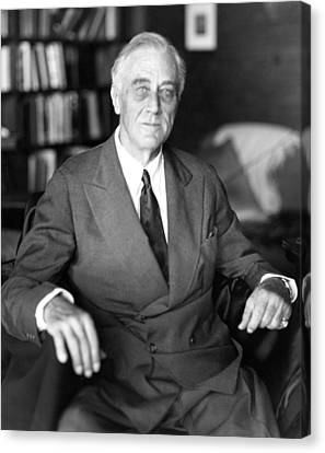 President Franklin Roosevelt The Day Canvas Print by Everett