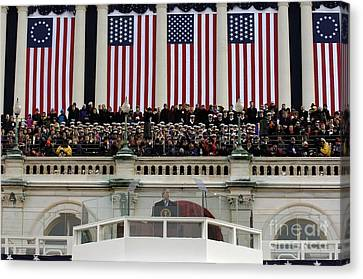 President George W. Bush Makes Canvas Print by Stocktrek Images