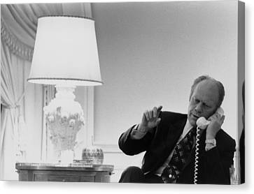President Gerald Ford In The Second Canvas Print by Everett