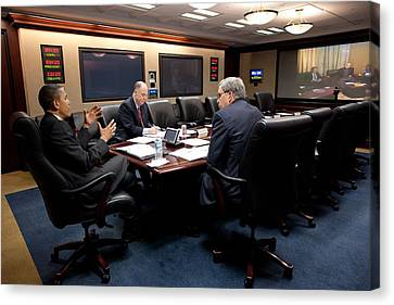 President Obama National Security Canvas Print by Everett