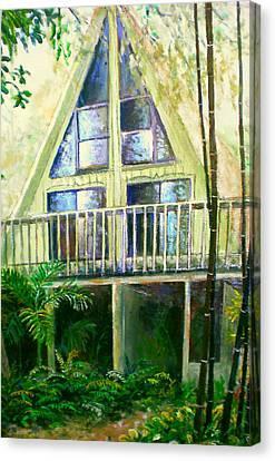 Presley House Canvas Print by Lou Ann Bagnall
