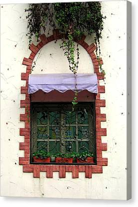 Pretty Decorated Window Canvas Print by Yali Shi