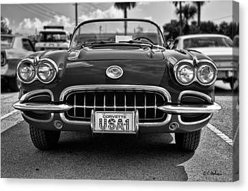 Pretty In Red - Bw Canvas Print by Christopher Holmes
