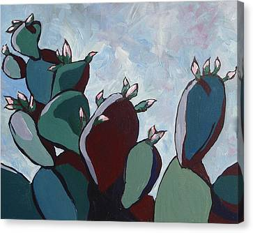 Prickly Pear Stand Canvas Print by Sandy Tracey