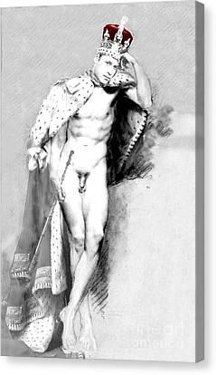 Prince William Crown Jewels Canvas Print by Karine Percheron-Daniels