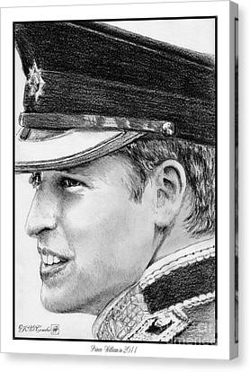 Prince William In 2011 Canvas Print by J McCombie