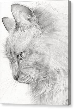 Princess Fleur Canvas Print by Monique Geurts