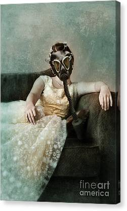 Princess In Gas Mask 2 Canvas Print by Jill Battaglia