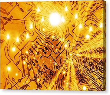 Printed Circuit Board, Artwork Canvas Print by Mehau Kulyk