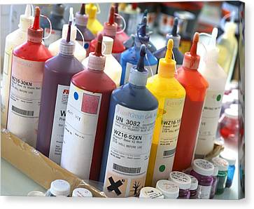 Printing Ink Pigments Canvas Print by Mark Sykes